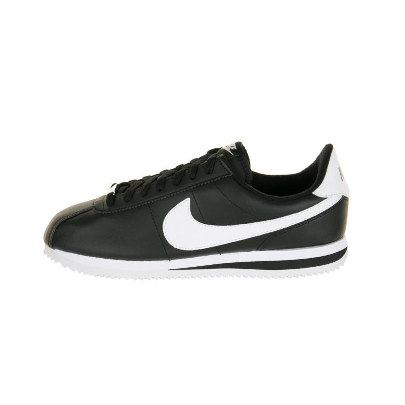 Basket Nike Basic Cortez Leather Black and White - Ref. 819719-012