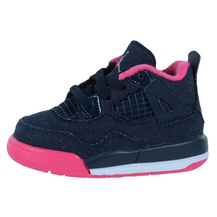 Basket Nike Air Jordan 4 Retro TD Bébé - Ref. 705345-408