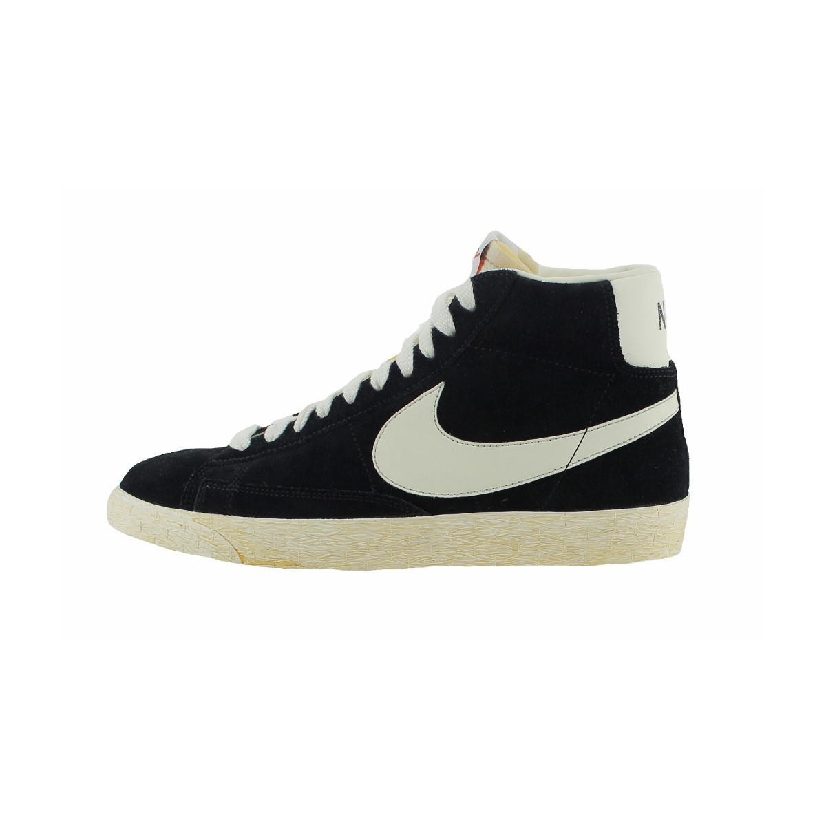 Baskets montantes Blazer Mid '77 Vintage Nike en blanc pour