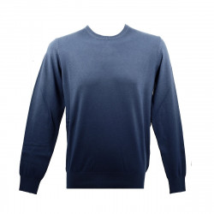 Real Cashmere Pull Real Cashmere (Bleu) - IUB109841-GIROCOLLO-TOPP