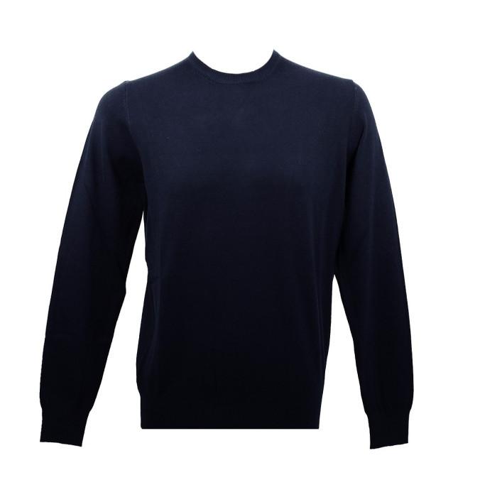 Real Cashmere Pull Real Cashmere (Navy) - IUB109841-GIROCOLLO-TOPP