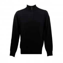 Real Cashmere Pull Real Cashmere (Noir) - IUB109903-LUPETTO-ZIP