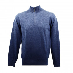Real Cashmere Pull Real Cashmere (Bleu) - IUB109903-LUPETTO-ZIP