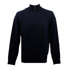 Real Cashmere Pull Real Cashmere (Navy) - IUB109903-LUPETTO-ZIP