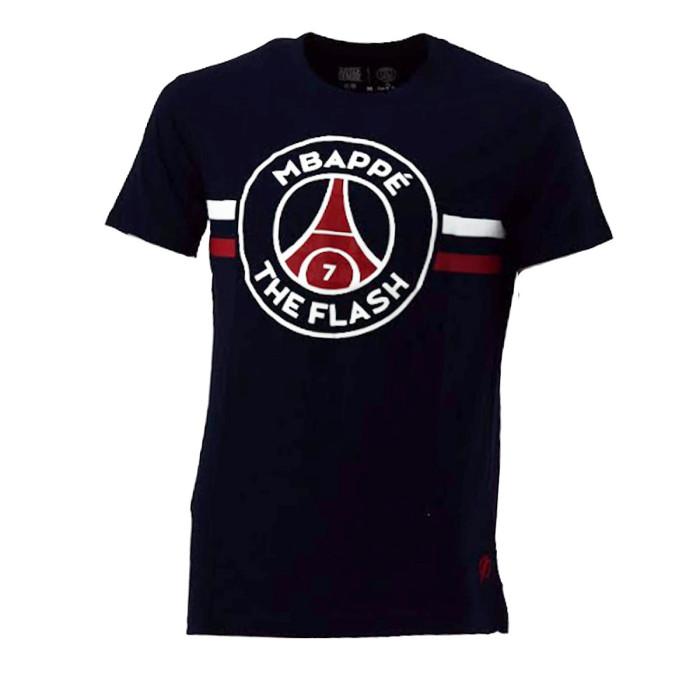 Tee-shirt PSG Justice League MBAPPE FLASH (Bleu) - PSG-TEE-SHIRT-MBAPPE-FLAS
