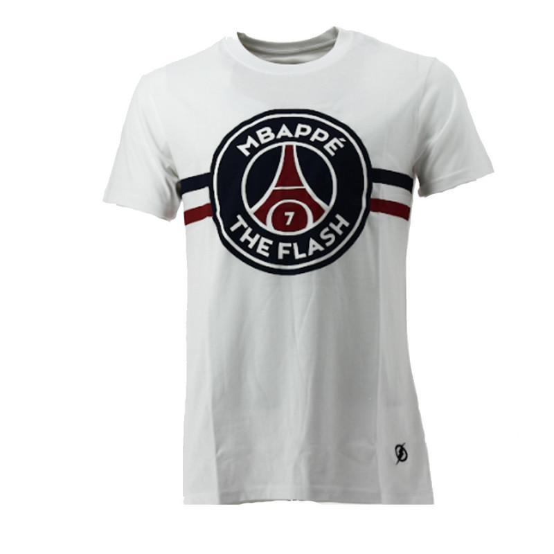 PSG Justice League Tee-shirt PSG Justice League MBAPPE FLASH (Blanc) - PSG-TEE-SHIRT-MBAPPE-FLAS