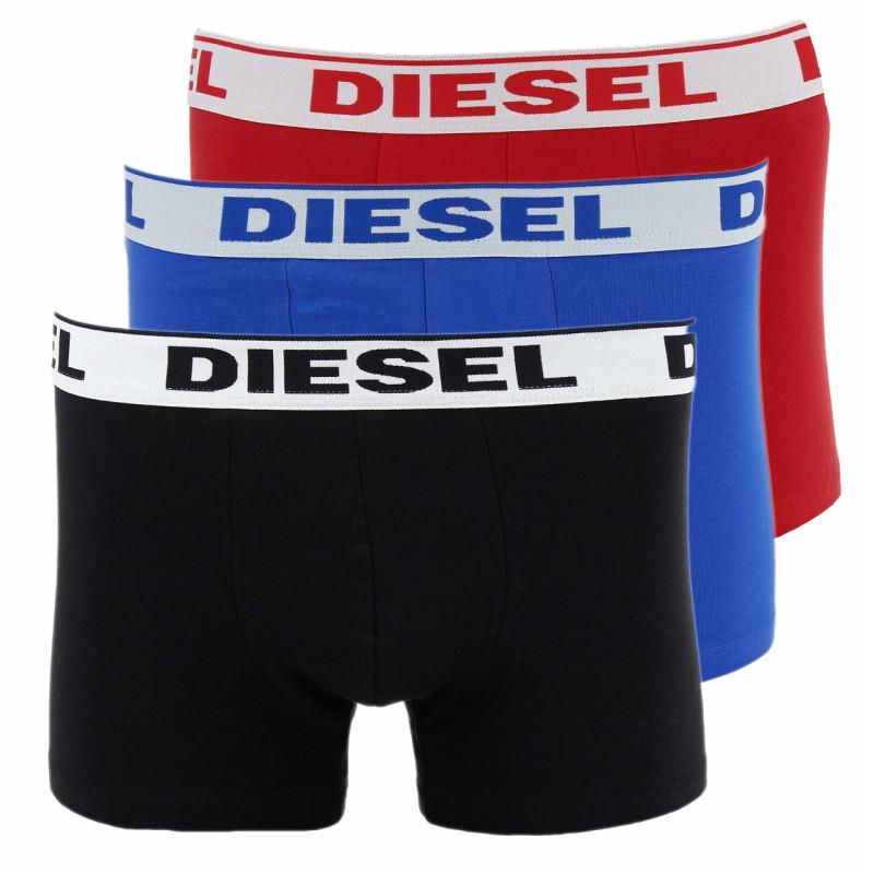 3 Boxers Diesel Umbx Shawn (Noir/Rouge/Bleu)