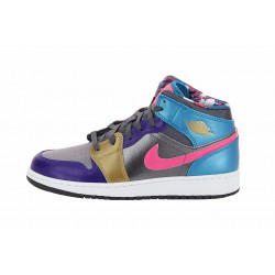 Basket Nike Air Jordan 1 Mid Junior - Ref. 555112-008