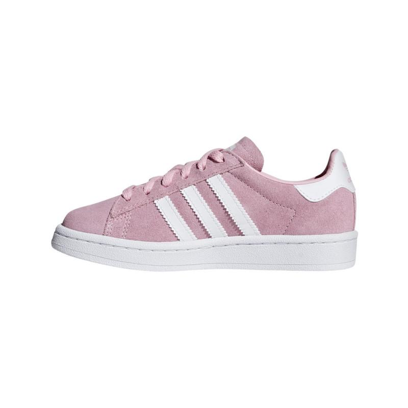 baskets adidas blanche et bleu avec languette violette